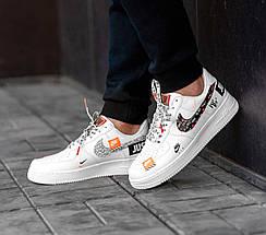 Мужские и женские кроссовки Nike Air Force 1 Low Just Do It Pack White, фото 3