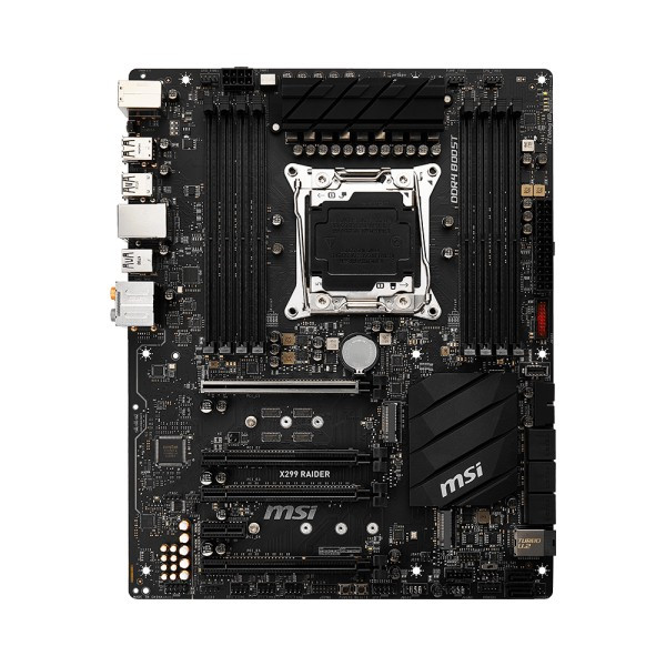 "Материнская плата MSI X299 RAIDER s.2066 DDR4  ""Over-Stock""  Б/У"