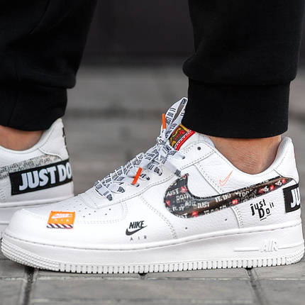 a095f5e0720567 Мужские и женские кроссовки Nike Air Force 1 Low Just Do It Pack White, фото