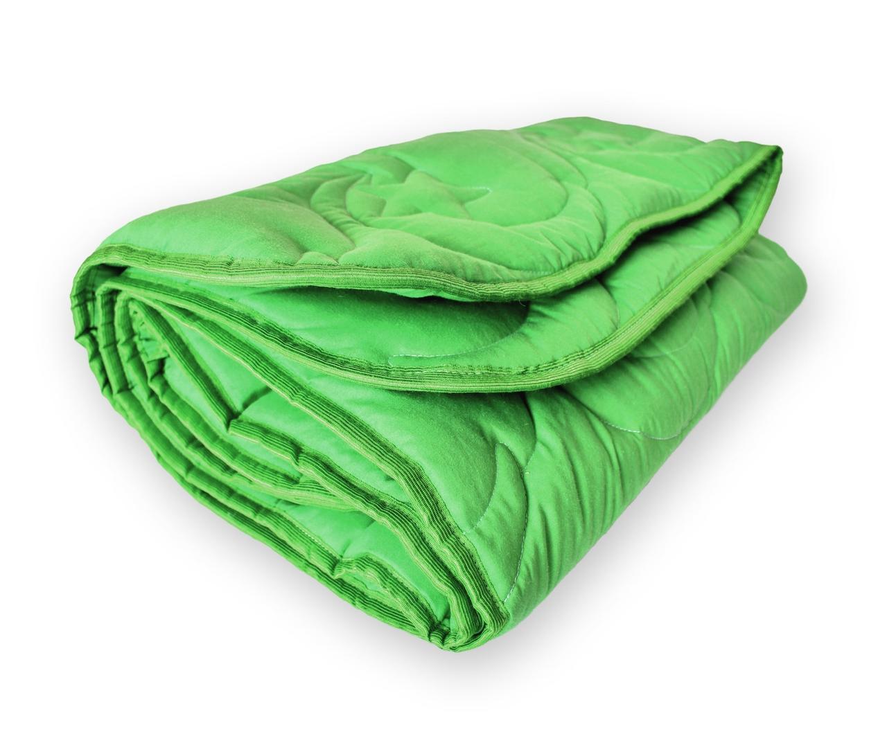 Одеяло детское QSLEEP полушерсть 105*140 см зеленый (месяц и звезда)