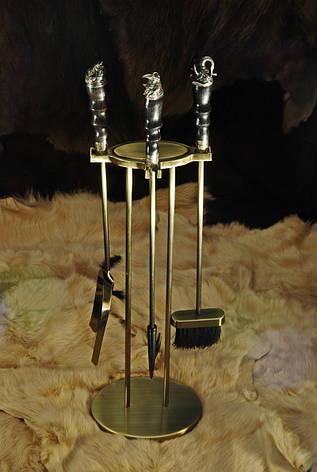 """Каминный набор ручной работы """"Сафари-2"""", из стабилизированного граба, фото 2"""