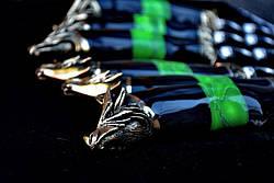 """Элитный подарочный набор для мужчины с шампурами из рога буйвола """"Пламя дракона"""", в футляре из морёного вяза., фото 3"""