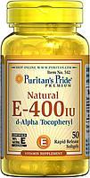 Puritan's Pride Vitamin E-400 IU 50 softgels, фото 1
