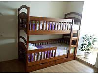Двухъярусная кровать Карина Люкс Усиленная 80*190 деревянная
