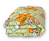 Одеяло полуторное QSLEEP теплое полушерсть 140*205 см, фото 2