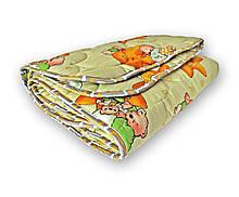 Одеяло полуторное QSLEEP теплое полушерсть 140*205 см яркий детский