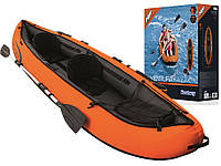 Надувная туристическая байдарка (каяк) Hydro Force 1/2 местная оранжевая