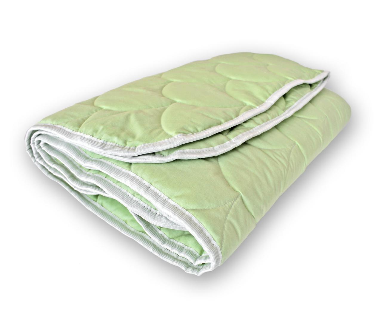 Одеяло стеганое зимнее QSLEEP полуторное Евро 155*215 см зеленый, пастельный