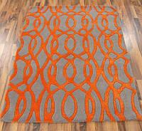Ковер из шерсти оранжевого цвета, фото 1