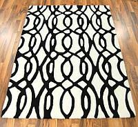 Купить ковры из шерсти черно белого цвета, фото 1