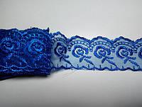 Кружево синее 4 см