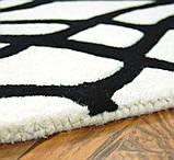 Купити килими з вовни чорно білого кольору, фото 2