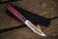 """Нож ручной работы """"Якут"""" с рукоятью из карельской берёзы"""