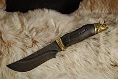 """Нож охотничий ручной работы """"Носорог"""", дамасск, фото 3"""