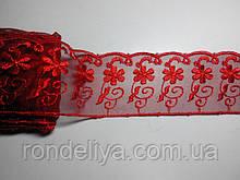 Кружево красное 6,5 см
