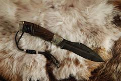"""Нож ручной работы, нож-антитеррор """"Воин1"""", дамасск, фото 2"""