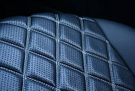 Чехлы на сиденья Чери Амулет (Chery Amulet) (модельные, 3D-ромб, отдельный подголовник) Черно-белый