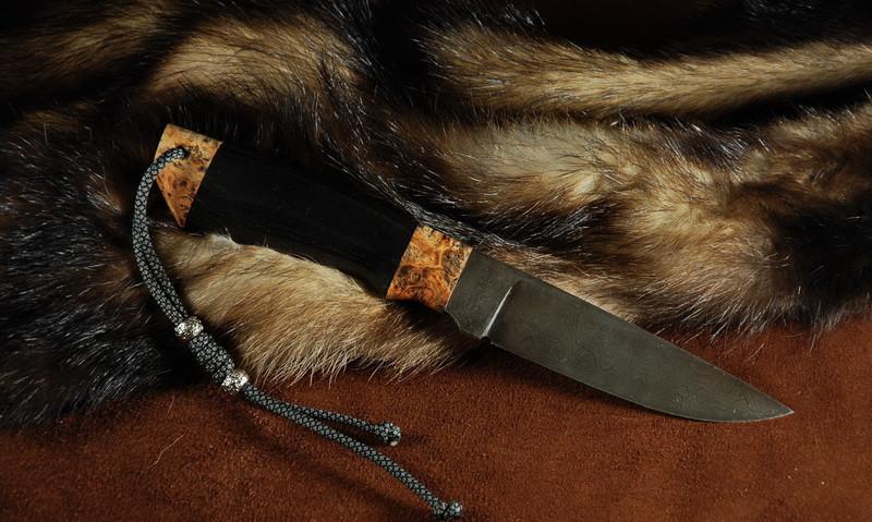 """Охотничий нож ручной работы из дамасска """"Хантер"""""""