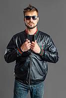 Мужская кожаная куртка в стиле Gucci