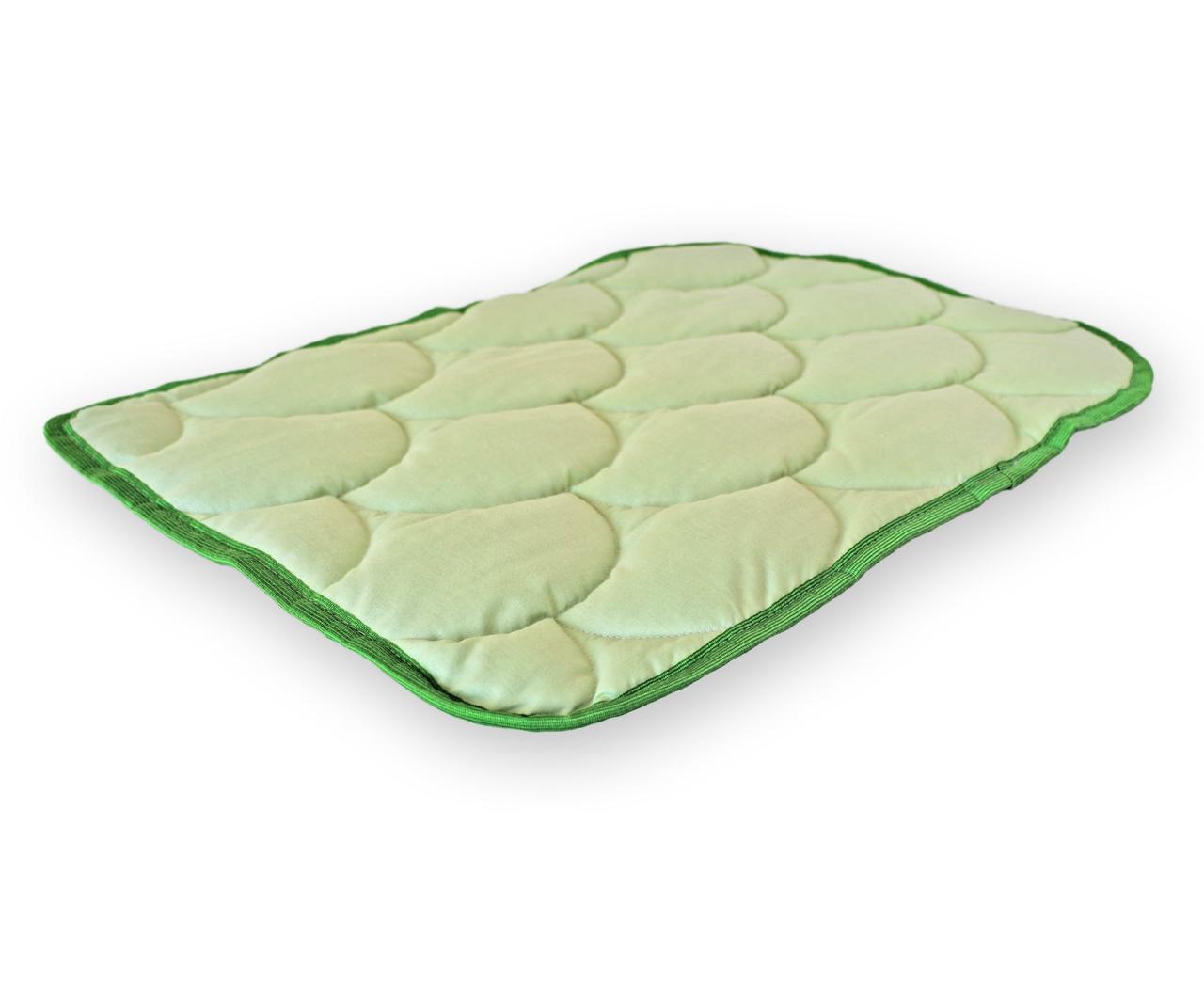 Подушка для младенцев QSLEEP, хлопок+шерсть, 40*55см, белая (031) стеганое, 55, светло-зеленый, зеленый