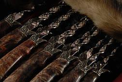 """Большой подарочный набор с шампурами """"Сокол"""" в кейсе из эко-кожи, 12шт. Элитный подарок для мужчины на юбилей., фото 3"""