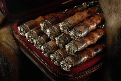 """Большой подарочный набор с шампурами """"Сокол"""" в кейсе из эко-кожи, 12шт. Элитный подарок для мужчины на юбилей., фото 2"""