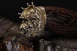 """Нож охотничий ручной работы в подарок льву """"The king of beasts""""(Король Лев), дамасская сталь, фото 3"""