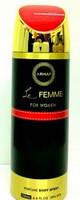 Жіночий парфюмированый дезодорант le femme b/s 200 ml