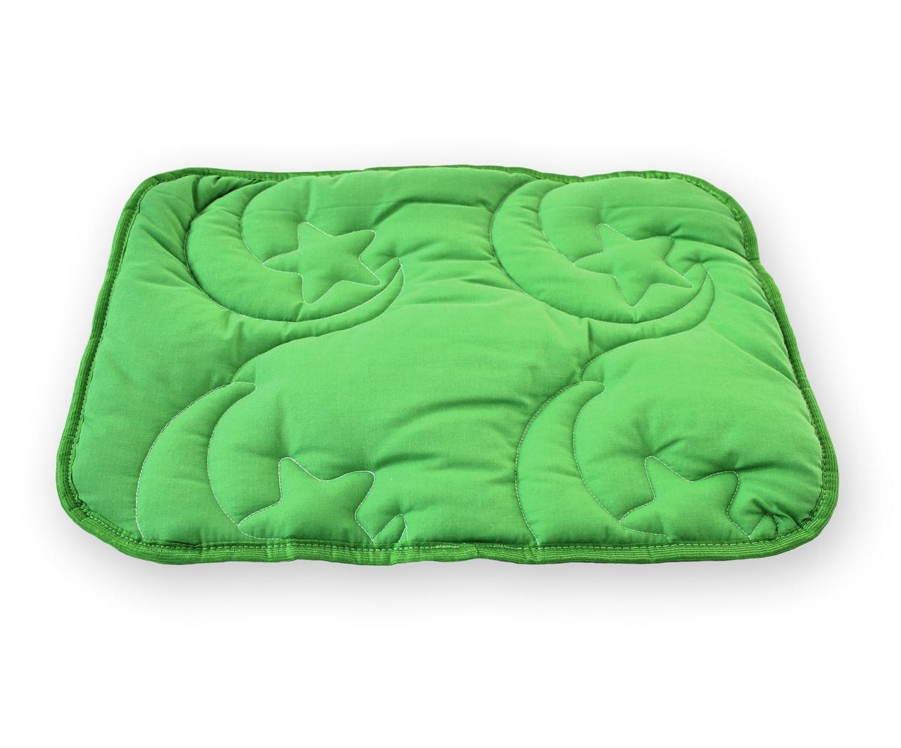 Подушка для младенцев QSLEEP, хлопок+шерсть, 40*55см, белая (031) стеганое, 55.0, зеленый, зеленый