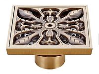 Трап для душа 100*100 мм. латунь с механическим клапаном VE 464F