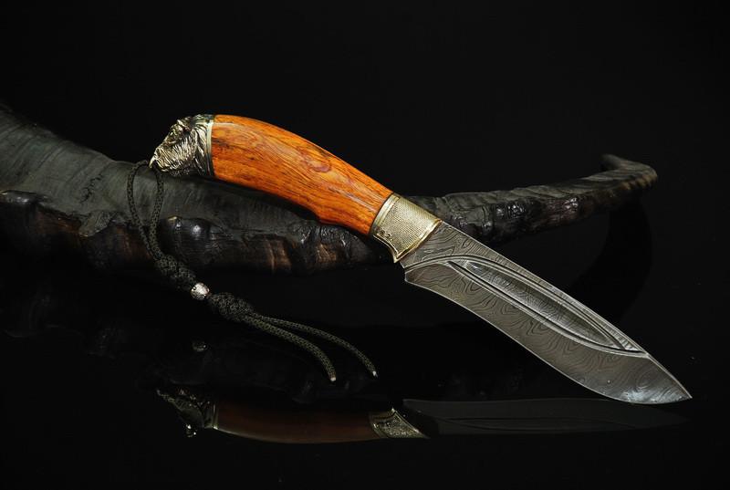 """Нож охотничий ручной работы """"Буйвол"""", дамасск"""