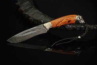 """Нож охотничий ручной работы """"Буйвол"""", дамасск, фото 2"""