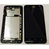 Дисплей для Asus ZenFone 2 Laser (ZE551KL) с тачскрином и рамкой черный Оригинал