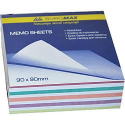 "Блок бумаги для заметок ""Зебра"" 90х90х30мм, не склеенный"