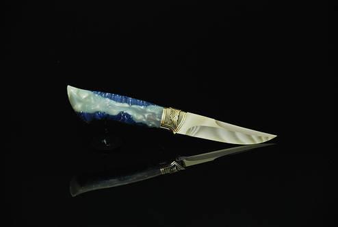 """Нож ручной работы """"Перо"""", N690, фото 2"""