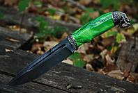 """Нож туристический ручной работы """"Тропический змей"""", дамасск"""