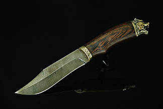 """Охотничий нож ручной работы """"Медведь"""", дамасск, фото 2"""