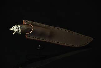 """Охотничий нож ручной работы """"Медведь"""", дамасск, фото 3"""