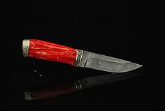 """Нож ручной работы """"Закат"""", дамасск, фото 2"""