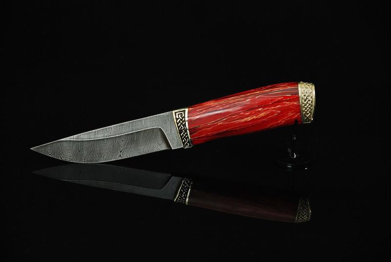 "Нож ручной работы ""Закат"", дамасск"