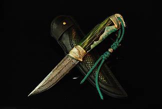"""Коллекционный авторский нож """"Весенний зов"""", с мозаичным дамасском, фото 2"""