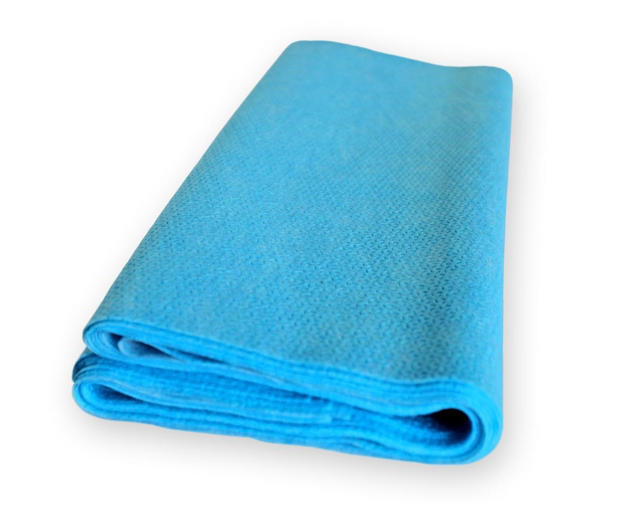 Пеленка (салфетка) QSLEEP влагостойкая 60х120см бело-голубая (10шт/уп)