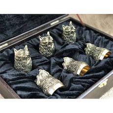 """Подарочные стопки из бронзы """"Рысь"""" в кейсе из эко-кожи, 6шт., фото 3"""