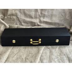 """Оригинальный подарок шефу - стильный набор ручной работы """"Кабан"""" (шампуры, нож, 6 чарок) в кейсе из эко-кожи, фото 2"""