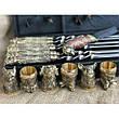 """Дорогой подарок мужчине ко дню рождения: шашлычный набор """"Wildness"""" (шампура, нож, 6чарок) в кейсе из эко-кожи, фото 3"""