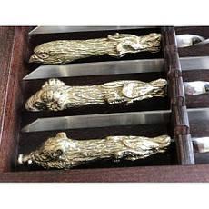 """Лучший подарок мужчине - шампура """"Успешная охота"""", 6 охотничьих чарок в кейсе из бука, фото 2"""