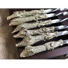 """Лучший подарок мужчине - шампура """"Успешная охота"""", 6 охотничьих чарок в кейсе из бука, фото 3"""