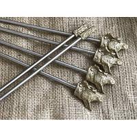 """Стойки для шампуров, походный мангал-рамка с художественным литьем """"Лось"""", в колчане"""