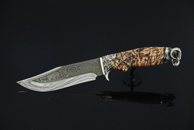 "Необычный нож ручной работы ""Архар"", 40Х13"