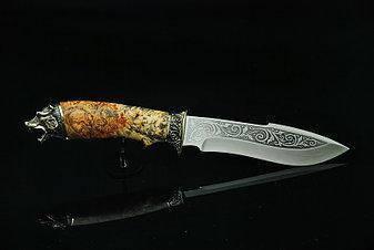"""Красивый нож ручной работы """"Медведь-3"""", 40Х13, фото 2"""